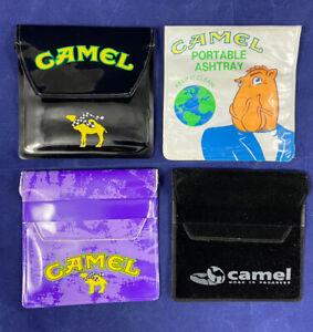 Lot 4 Vtg 90's Camel Cigarettes Joe Camel Racing RJR Portable Ashtrays Unused