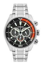 Citizen Eco-Drive Men's Chronograph Red Accent Black Dial 45mm Watch CA4330-57E