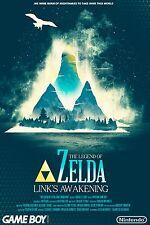 The Legend Of Zelda Link's Awakening - Wall Poster 30 in x 20 in - 9 Set of 9
