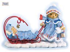 Cherished Teddies 2012 Figurine, Grette, Winter, Sleigh, Christmas, 4023654, Nib