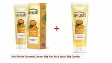 Lever Ayush Anti Marks Turmeric Face Cream 50g + Face wash 80g acne pimple
