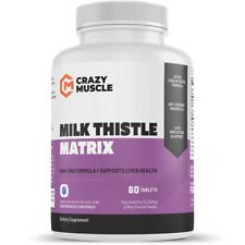 Crazy Muscle® Milk Thistle Matrix Tablets (70:1) Liver Detox / Hangover Pills ✅✅
