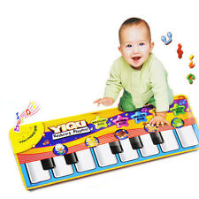 Baby Kids Touch Play Mats Keyboard Musical Singing Gym Carpet Mat Birthday Gifts