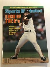 1986 Sports Illustrated BOSTON Red Sox ROGER CLEMENS No Label FIRST COVER 20 K's