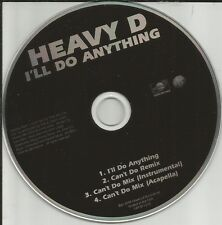 HEAVY D I'll Do anything / Can't Do REMIX & INSTRUMENTAL & ACAPELLA PROMO DJ CD