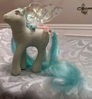 Vintage G1 MLP Flutter Pony Peach Blossom with repro'd wings