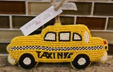 New Pottery Barn BEADED TAXI CAB NYC Car Christmas Holiday Ornament