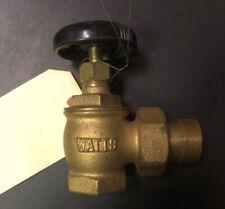 """1"""" Watts Brass Radiator Valve New Old Stock"""
