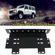 1X Truck Suv Front Bumper License Plate Mount Bracket Holder Lamps/LED Light Bar