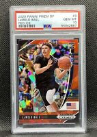🔥2020-21 Panini Prizm DP Lamelo Ball #3 Red Ice🧊PSA 10 GEM💎Rookie RC Hornets
