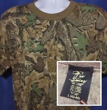 VTG 1980s Blank Camoflauge T Shirt Thin Soft Blanks Advantage Camo 80s *M
