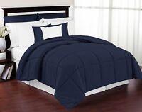 Hotel Collection - Premium Goose Down Alternative Comforter Twin Queen King Blue