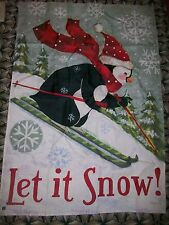 Breezeart Porch Garden Flag Jennifer Brinley Let It Snow Penquin Winter