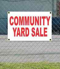 2x3 COMMUNITY YARD SALE Red & White Banner Sign NEW Discount Size & Price