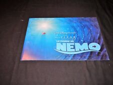 NEMO  scenario dossier presse cinema animation walt disney 30 pages