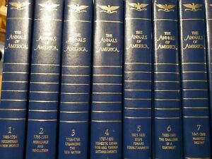 The Annals of America complete 1-21 volumes Encyclopedia Britannica