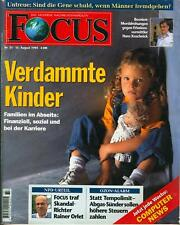 Focus 33/94: Verdammte Kinder- Familien im Abseits/Untreue:Sind die Gene schuld?