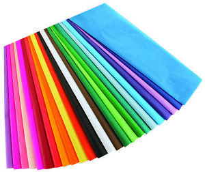 Hygloss Products Bleeding Tissue Assortment- Multi-Color 12 x 18 Inch 50 Sheets
