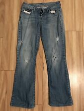 LEVIS Sz 28 Womens Light Blue Skinny Ripped Bootcut 'Bold Curve' Rare Style jean