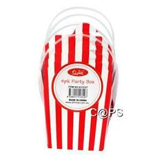 4 x Red and White Striped Noodle Shaped Boxes   Loot Box   Treat Boxes   Circus