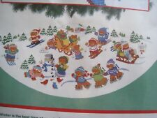 Dimensions Christmas Counted Cross Tree Skirt Kit,WINTER FROLIC,8405,Lucy Rigg