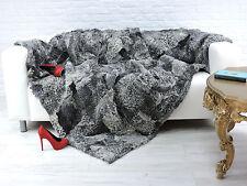 Luxe, Véritable CARACUL peau d'agneau Throw Blanket naturel 200 cm x 160 cm i857