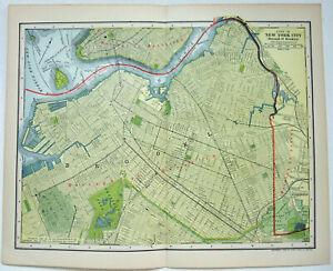 Brooklyn, NY - Original 1903 City Map by Dodd Mead & Company