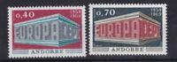 Andorra postfrisch französische Post Europa CEPT 1969 MiNr. 214-215
