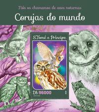 Sao Tome & Principe 2016 MNH Owls Little Barn Owl 1v S/S Birds Stamps