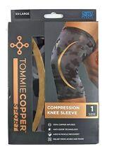 Tommie Copper Sport Compression Knee Sleeve Size XXL Black Anti-Odor Technology