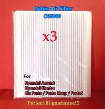 x3 C35660 CABIN AIR FILTER for HYUNDAI Accent Elantra / KIA Forte CAF1846P 49377