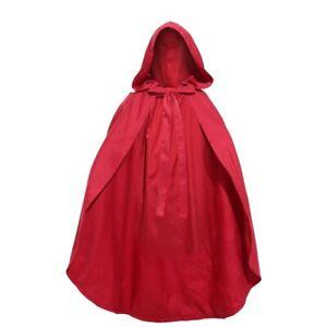 Adult Kids Child Little Red Riding Hood Costume Cosplay Cloak Cape Women Girls