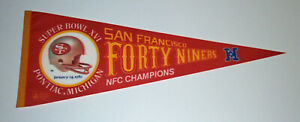 1982 San Francisco 49ers NFC Champs pennant Super Bowl XVI Joe Montana