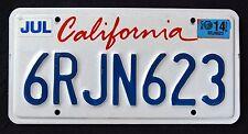 """CALIFORNIA """" LIPSTICK - WHITE  - 6RJN623 """" CA 2014 License Plate"""