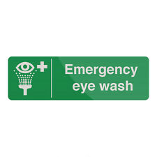 Emergency Eye Wash Station Sign 300 x 100mm Self-Adhesive  Signage Safety Signs