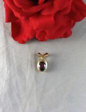14k Gold & Garnet 3.75 g 7/8th of an inch Pendant  CAT RESCUE