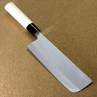 "Japanese Kanetsune Kitchen Nakiri Vegetable Knife 165mm 6.5"" Damascus SEKI JAPAN"