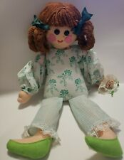 """Happenings in Boutiques Inc , Vintage , Doll 1920's , 21.5"""" With Green Outfit"""