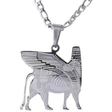 Persian King Winged Lion Necklace Iranian Persia Gift Iran Art Pahlavi Farvahar