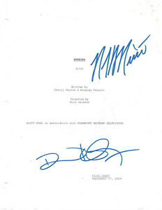 SIGNED Script~Numbers~Pilot~ by Cheryl Heuton Nicolas Falacci 2004  reprint