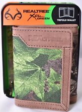REALTREE Xtra Green Camouflage Trifold/Tri-Fold Wallet with Tin Box >NEW<