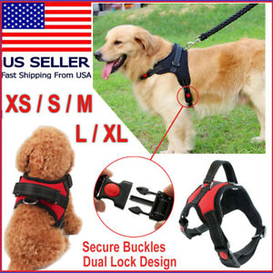 No Pull Pet Service Dog Vest Harness Adjustable Control Reflective XS S M L XL