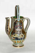 Gialletti Vintage Italian Byzantine Style Gold Mosaic Ewer Vase 50s 60s Deruta
