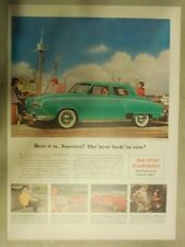 Studebaker Car Ad: Next Look In Cars 1950 Studebaker ! Size:11 x 15 Inches