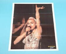 DOUBLE SIDED FOLDOUT POSTER MADONNA LIVE JOHNNY HANDSOME 1989 HITKRANT MAGAZINE