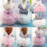 Traje de falda de la princesa del vestido de ropa para mascotas perro gato