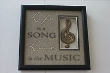 Life is a Song Love is the Music Shadow Box Picture L#546