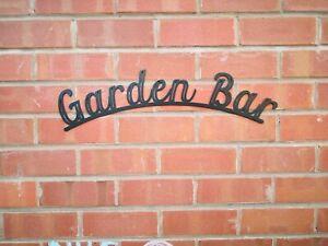 Garden Bar sign  Metal lettering,  Garden, Beer