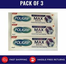 Poligrip Max Seal Denture Fixative 40g pack of 3