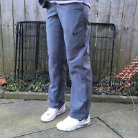Nike Mens Dri-Fit Grey Joggers Trousers Jogging Bottoms Track Pants Zipped Small